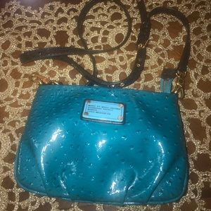 MARC JACOBS crossbody purse, turquoise blue.